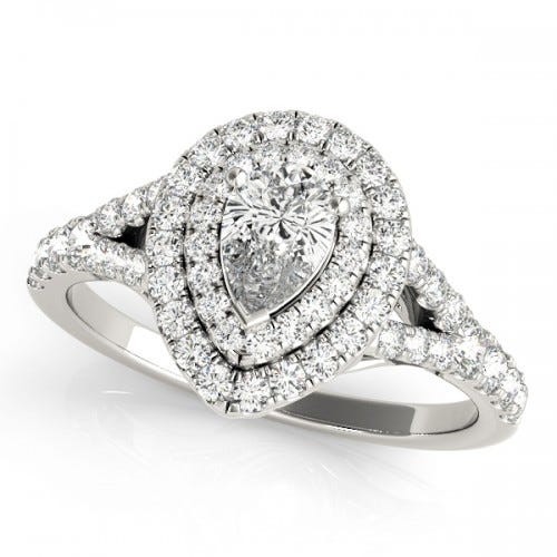 clean origin lab diamonds pear engagement ring