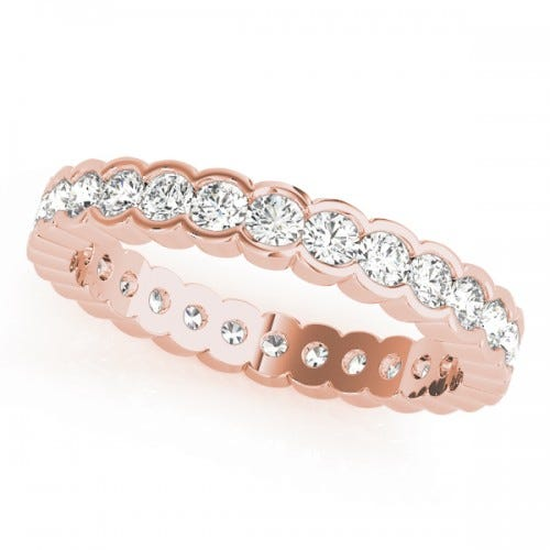 clean origin lab diamonds rose gold eternity