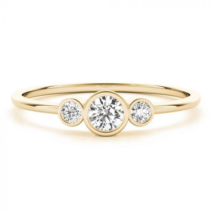 Tina Bezel Three Stone Ring