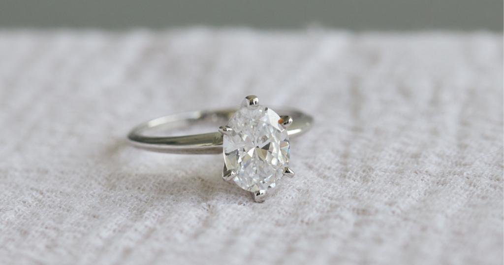 stunning white gold engagement ring.