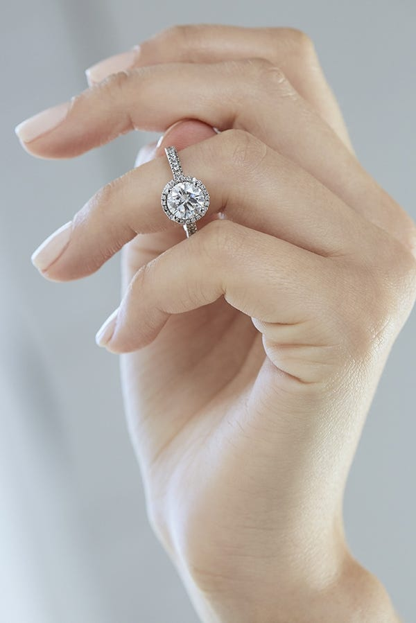 man-made ring on finger