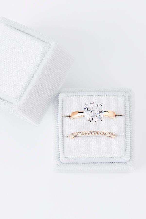 lab grown diamond ring in box