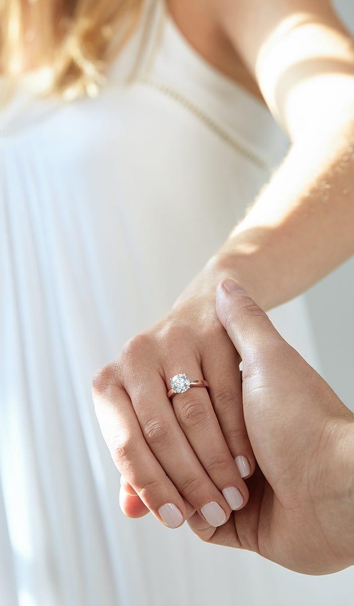 diamond ring on hand