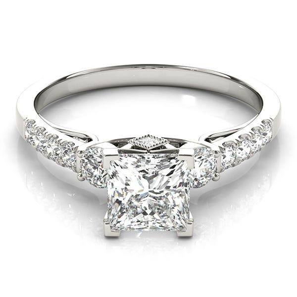princess-cut engagement ring