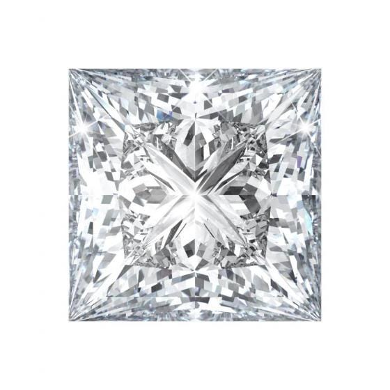 princess-shaped diamonds