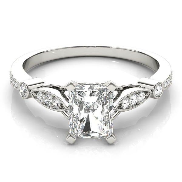 white gold radiant diamond ring