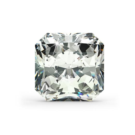 radiant shaped diamond