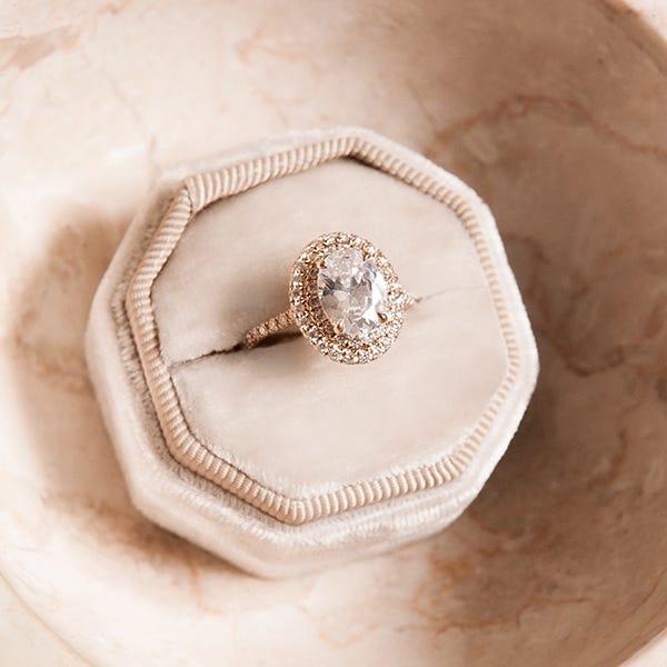 Susie Saltzman halo ring