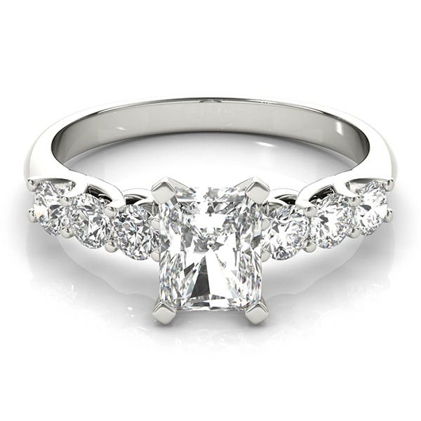 white gold radiant classic engagement ring