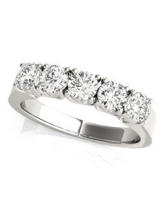 1 1/2 CT. TW. Trellis 5 Stone Diamond Ring