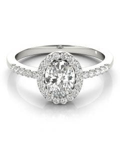 Corazon Oval Halo Ring