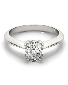 Split Prong Oval Ring