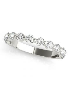Single Prong 12 Stone Diamond Ring